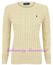Ralph Lauren Women's Ladies Cable Crew Neck Jumper Dark Cream XS - XL RRP £110