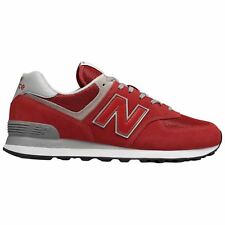 New Balance ML574 Red Mens Suede Mesh Low-top Running Shoes Trainers