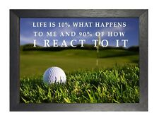 6 Golf Inspirational Life Quote Print Motivation Picture Sports Artwork Poster