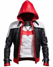 Men's Batman Arkham Knight Game Red Hood Leather Jacket & Vest Halloween Costume
