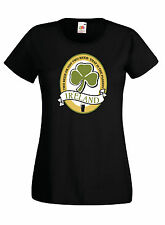 T-shirt Maglietta donna J1190 Two Beer Or Not Beer San Patrizio Guinness
