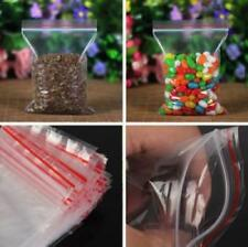 200 Small Clear Plastic Bags Baggy Grip Self Seal Resealable Zip Lock Plastic
