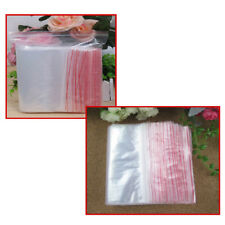 Clear Small Grip Self Press Seal Resealable Poly Polythene Zip Lock Plastic Bags