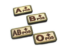 Outdoor Sports Badges Blood Types A B O AB Embroidered Magic Two-side Patches