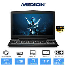 "Medion Erazer 15.6"" Full HD Gaming Laptop Intel Core i5 / i7,8GB RAM,1TB HDD"