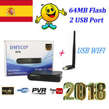 DVB-S2 Satellite Receiver Digital DecoderFull HD1080P Support powervu 64MB Flash