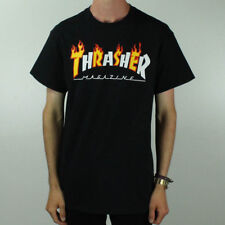 Thrasher Flame Logo T-Shirt Tee – Black Brand New in size M,L
