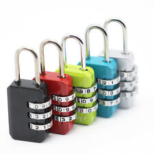 1PC Security 3 Digit Combination Travel Suitcase Luggage Bag Code Lock Padlock