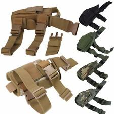 Tactical Pistol Gun Right Drop Leg Thigh Holster Non-slip Belt Pouch Holder