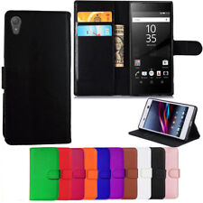 Leather Wallet Book Flip Case Pouch For Sony XPeria Mobile Phones Cover