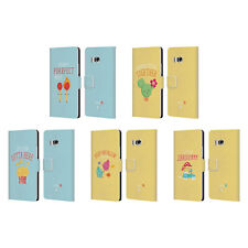 OFFICIAL MUY POP SUNNY SIDE UP MIX LEATHER BOOK WALLET CASE FOR HTC PHONES 1
