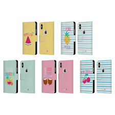 OFFICIAL MUY POP SUNNY SIDE UP FRUITS LEATHER BOOK CASE FOR APPLE iPHONE PHONES