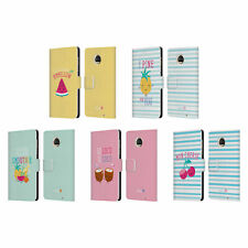 OFFICIAL MUY POP SUNNY SIDE UP FRUITS LEATHER BOOK CASE FOR MOTOROLA PHONES