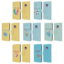 OFFICIAL MUY POP SUNNY SIDE UP SUMMER LEATHER BOOK CASE FOR SAMSUNG PHONES 1