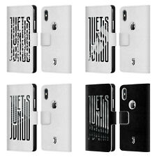 JUVENTUS FC 2018/19 GRAPHIC LOGO LEATHER BOOK CASE FOR APPLE iPHONE PHONES