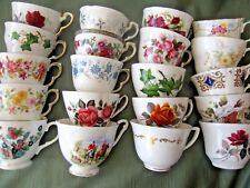JOB LOT OF 5 VINTAGE CHINA  CUPS - NO SAUCERS -TEA PARTIES, WEDDINGS, CRAFTS ETC