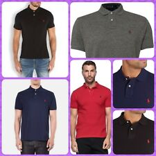 New Men's Ralph Lauren Polo Short Sleeve Custom Fit Polo Colar T-Shirt