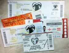 2016 - 2017 NATIONAL teams tickets Q WC & EURO & Friendly UPDATED AUGUST 2018