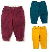 Little Green Radicals Organic Cord Jeans Trousers Berry blue gold 2 3 4 5 6 7 8