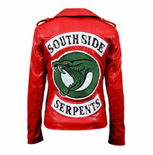Women's Riverdale Southside Serpents Cheryl Blossom Red Leather Jacket