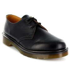 Unisex Adults Dr Martens 1461 PW Icons Smooth Leather Black Plain Shoes UK 3-13