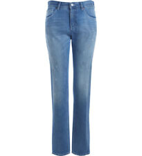 Jeans MM6 Maison Margiela in denim blu effetto used