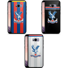 CRYSTAL PALACE FC 2017/18 PLAYERS KIT BLACK HYBRID GLASS CASE FOR SAMSUNG PHONES