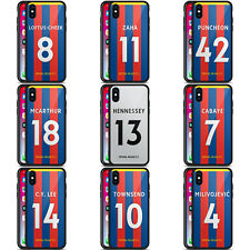 CRYSTAL PALACE FC 2017/18 HOME KIT 1 BLACK HYBRID GLASS CASE FOR iPHONE PHONES