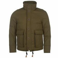 Lee Cooper Heavy Down Jacket Mens Green Coat Outerwear