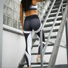 Women Fitness Tights Workout Gym Bottom Slim and Shaping Hip Yoga Pants Blue