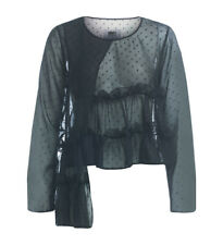 Top MM6 Maison Margiela nero in chiffon