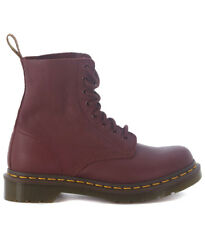 Anfibio Dr. Martens Pascal Cherry Red in nappa rosso ciliegia