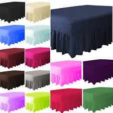 Plain Dyed Fitted Valance Sheet Poly-Cotton Bed Sheet Pillowcase