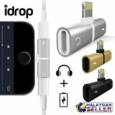 idrop 2 IN 1 Lightning Splitter Adapter [Audio/Call/Charge] Compatible for iPhon