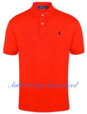 Ralph Lauren Mens Classic Fit Short Sleeve Polo Shirt Coral Red L-XL RRP £75