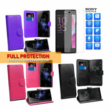 For Sony Xperia XA2 Cover Luxury Premium Leather Flip Wallet Phone Case Stand