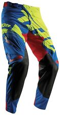 THOR PRIME FIT PARADIGM 2018 PANTALONI CROSS-ENDURO LIME-BLU TAGLIA 48 (USA 32)