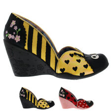 Womens Irregular Choice Lady Bee Bumble Bee Floral Wedge Heel Shoes UK 3.5-8.5