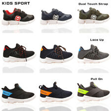 Boys Girls Kids Infant Trainers Sports Running Children Lace Up Casual Shoes