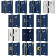 OFFICIAL STAR TREK DISCOVERY UNIFORMS LEATHER BOOK WALLET CASE FOR HTC PHONES 1