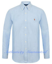 Ralph Lauren Slim Fit Stretch Oxford Cotton Shirt Blue S-XXL RRP £100