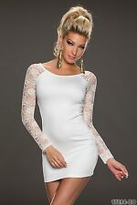 Party Club Wear Chic Lace Sleeves Mini Dress UK size 8-10 White Colour