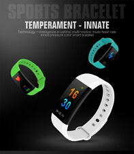 Reloj Inteligente IP68 Impermeable Bluetooth Fitness Pulsera Monitor de ritmo ca