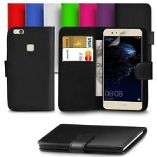 Leather Stand Flip Wallet Cover Mobile Phone Case For Huawei P8 P9 P10 P20 Lite