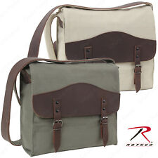 Rothco Vintage Olive Drab or Khaki Canvas Medic Bag With Leather Accents
