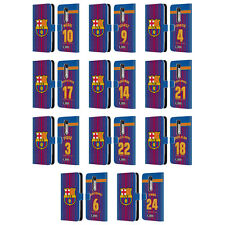 OFFICIAL FC BARCELONA 2017/18 HOME KIT 1 LEATHER BOOK CASE FOR MOTOROLA PHONES 2