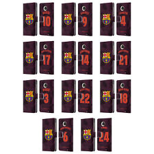 OFFICIAL FC BARCELONA 2017/18 THIRD KIT 1 LEATHER BOOK CASE FOR MOTOROLA PHONES