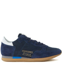 Sneaker Philippe Model Tropez Vintage West in suede e pelle blu