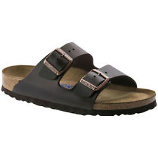 Birkenstock Arizona Soft Footbed Leather Open-Back Slides Womens Sandals