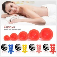 12x Silicone Medical Vacuum Massager Cupping Cups Therapy Anti Cellulite Set G3